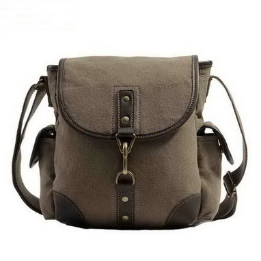 Medium Khaki canvas cross shoulder bags unisex from Vintage rugged canvas bags | Collection of backpack | Scoop.it