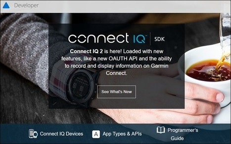 Garmin Connect IQ Announces New Features and Apps/Devices | Sports Activities | Scoop.it