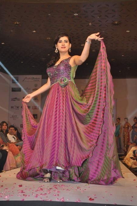 Archana Veda from Tollywoodin a Barbie Doll Dress on Fashion Ramp, Actress, Tollywood, Western Dresses | Concursos Públicos | Scoop.it