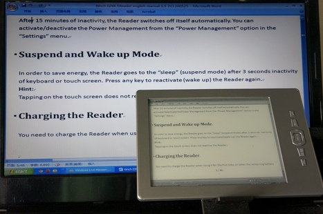 EINK Reader act as both eBook Reader and Secondary Computer Monitor | Part – II: Where do E-Learning content go today? | Scoop.it