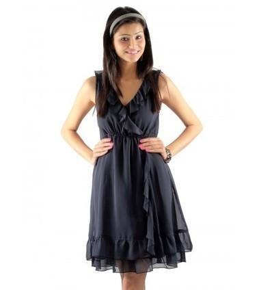 UPTOWN® Online Store | Buy Grey Ruffle Dress @ Rs.899.00 Online | Women Western,Ethnic Wear, Dresses, Tops, Skirts, Kurtis, Leggings with Best Deals- UPTOWNGALERIA | Scoop.it