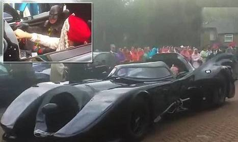 Groom arrives at his wedding in BATMOBILE driven by Batman himself - Daily Mail | Comic Book Trends | Scoop.it