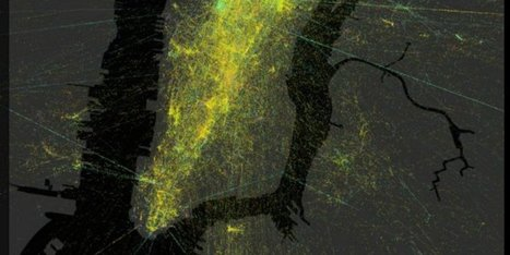 Stunning Maps Show A Day In New York And San Francisco In 32 Seconds - Huffington Post | Location Is Everywhere | Scoop.it