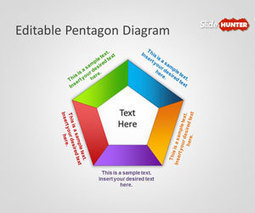 Free Editable Pentagon Diagram for PowerPoint | growth | Scoop.it