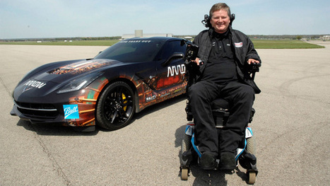 Quadriplegic racer will drive a Corvette using only his head | Tech News: Gadgets | Scoop.it