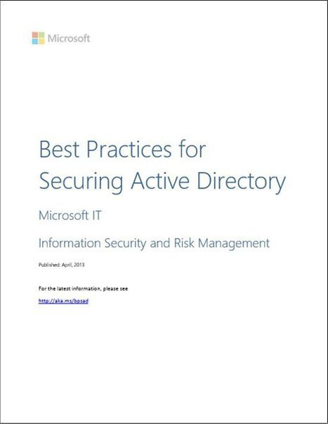 Best Practices for Securing Active Directory | #Security #InfoSec #CyberSecurity #Sécurité #CyberSécurité #CyberDefence & #DevOps #DevSecOps | Scoop.it
