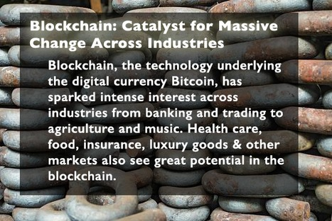 Blockchain: Catalyst for Massive Change Across Industries | Bitcoin, Blockchain & Cryptocurrency News | Scoop.it