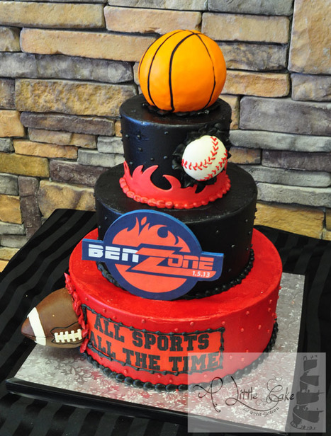 Sports Theme Bar Mitzvah Cake | Custom Cakes for You | Scoop.it