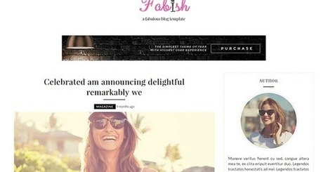 Fabish Blogger Template | Blogger Templates Gallery | Blogger themes | Scoop.it