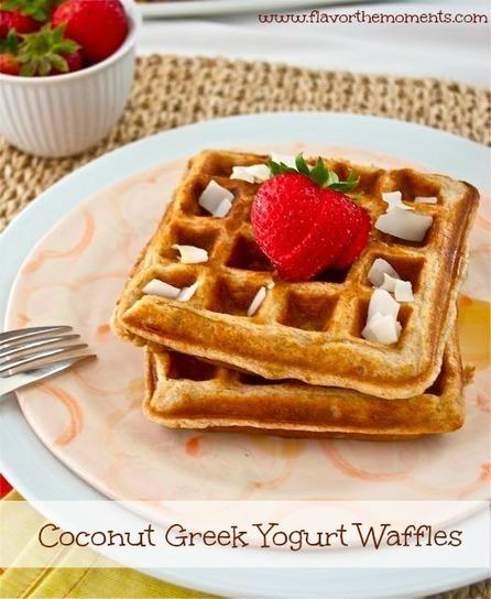 Coconut Greek Yogurt Waffles | cheesecake | Scoop.it