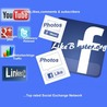 Get Free Facebook Likes, YouTube Views, Twitter Followers, Website Traffic, Photo Post Share, re-tweets, Google plus,Buy Fans, Increase likes From Biggest Social Exchange Network.