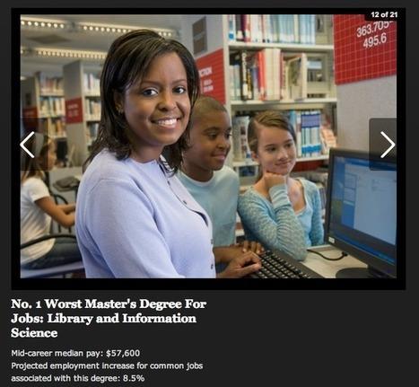 Library and Information Science Master's Degree, ¿el peor Master para conseguir trabajo? o_O | Index Murcia | Scoop.it