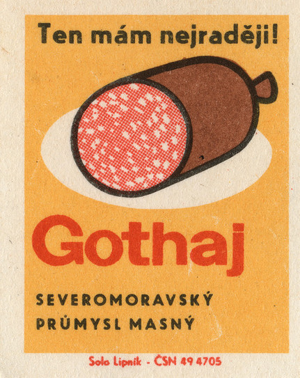 czechoslovakian matchbox label | Great type | Scoop.it
