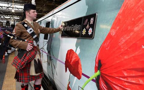 Locomotive arrives at Edinburgh memorial event - British Army Website   Today's Edinburgh News   Scoop.it