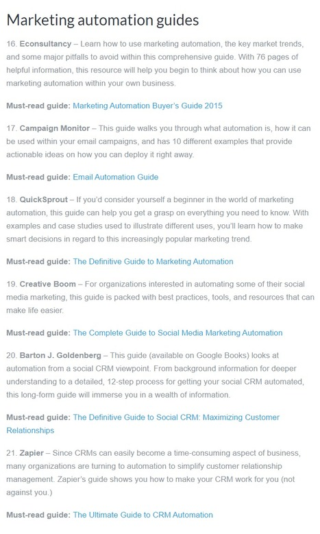 The definitive guide to 40 definitive marketing guides - Campaign Monitor | Digital Transformation of Businesses | Scoop.it
