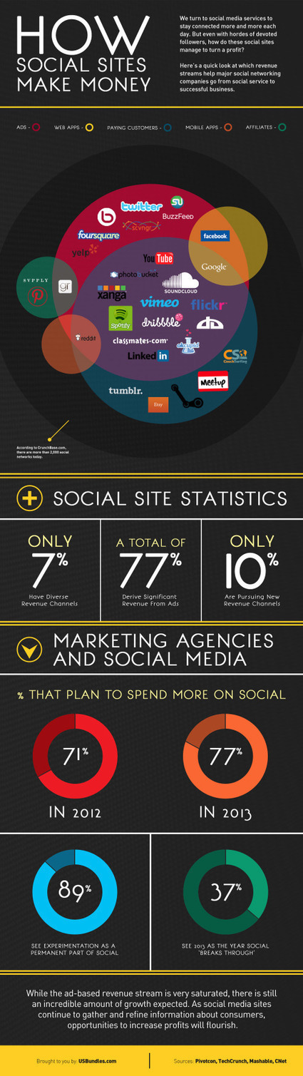 How Social Sites Make Money - Infographic | Social Media (network, technology, blog, community, virtual reality, etc...) | Scoop.it