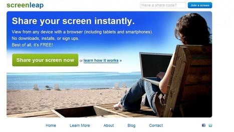 Comparte fácilmente la pantalla de tu PC con cualquiera con Screenleap « Omicrono | EDUCA´TICS | Scoop.it
