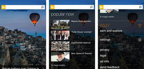 Bing's mobile homepage for iOS and Android gets a new look | Tools You Can Use | Scoop.it
