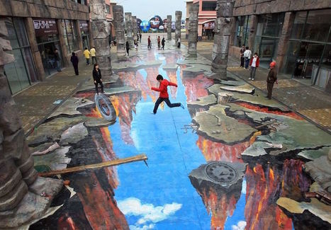 3D Street Art: 14 Eye-Popping Optical Illusions Created In Chalk | The brain and illusions | Scoop.it