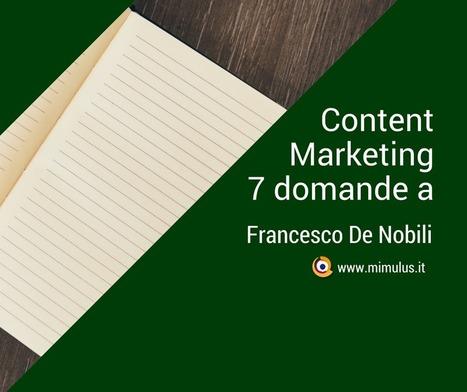 Content Marketing: intervista a Francesco De Nobili | Digital Friday by Mimulus | Scoop.it