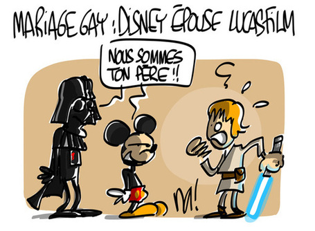 Mariage gay, Disney épouse Lucasfilm | Baie d'humour | Scoop.it
