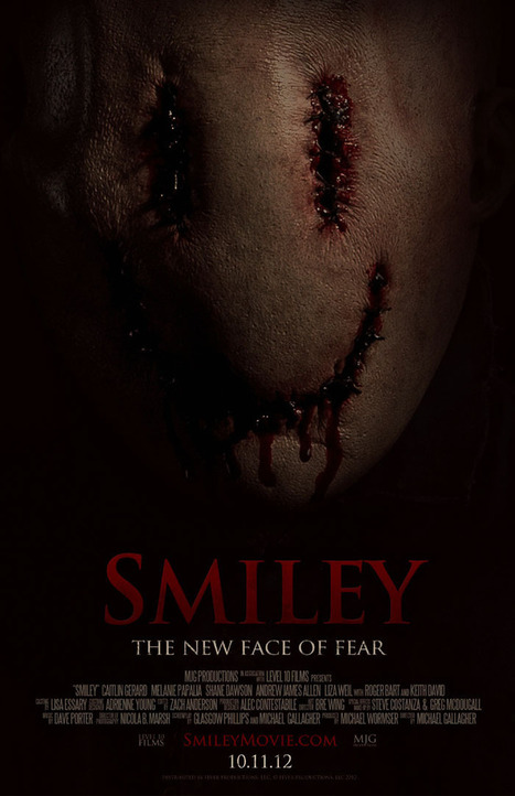 'SMILEY' to Release With Innovative Distribution Plan in Theaters: TUGG & VOD and on VOD October 11th | MoreHorror.com - Horror News, Movie Reviews, Exclusive Interviews | Tracking Transmedia | Scoop.it