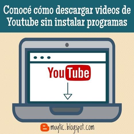 Descarga videos de Youtube sin instalar programas adicionales | ROBOTICA EDUCATIVA | Scoop.it