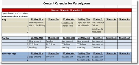 Content Calendar 101: Tips and Tools | Learning Happens Everywhere! | Scoop.it