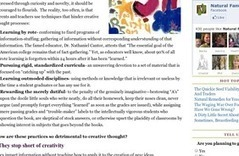 How Traditional Classrooms Hinder Creative Thinking   Natural Family Today   Knowledge Integration   Scoop.it