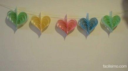 Cómo hacer una guirnalda de corazones de papel | Con tus propias manos - Lola | Scoop.it