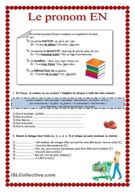 LE PRONOM EN | FLE (ressources) | Scoop.it
