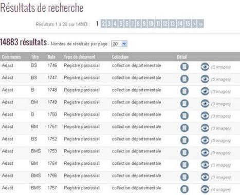 AD 65 : Hautes-Pyrénées les registres paroissiaux du greffe en ligne | CGMA Généalogie | Scoop.it
