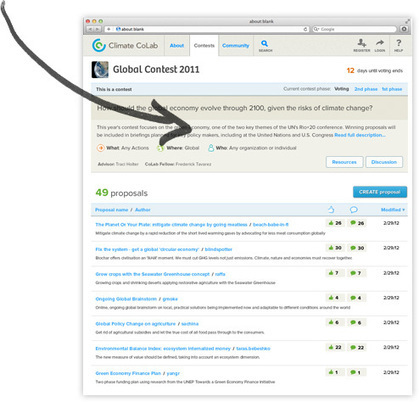 crowdsourcing - Climate CoLab   Peer2Politics   Scoop.it