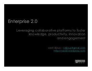 Enterprise 2.0 : Leveraging collaboration platforms to foster knowl... | Digital skills, Enterprise 2.0 | CoCreation & Social Product Development | Scoop.it