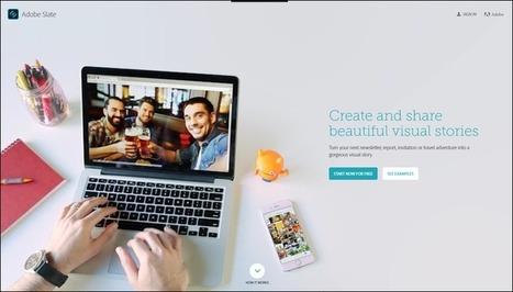 Edu-Curator: Maak mooie presentaties - visual stories - met het gratis Adobe Slate   E-learning, Blended learning, Apps en Tools in het Onderwijs   Scoop.it