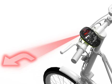 Un navegador GPS para bicicleta que proyecta las indicaciones sobre el asfalto | bancoideas | Scoop.it