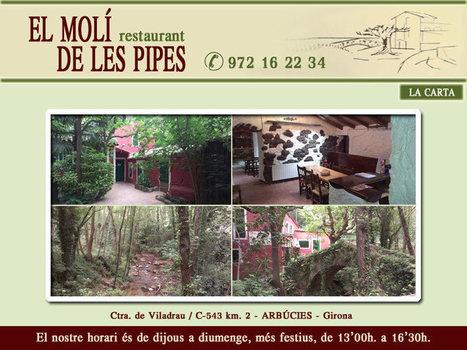 RESTAURANT MOLI DE LES PIPES   allotjaments la Selva   Scoop.it