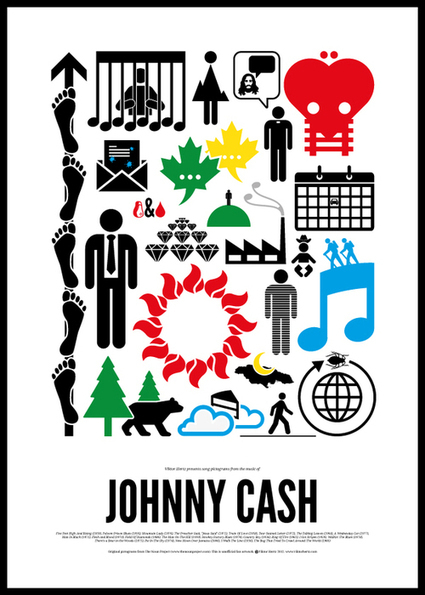Maximalist Pictogram Posters for Rock 'n' Roll Icons | Minimalisme | Scoop.it