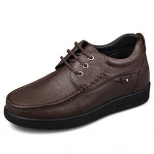Lightweight taller casual shoes get height 6cm / 2.36inch brown driver shoes on sale at topoutshoes.com | Elevator Casual shoes men height increasing Taller | Scoop.it