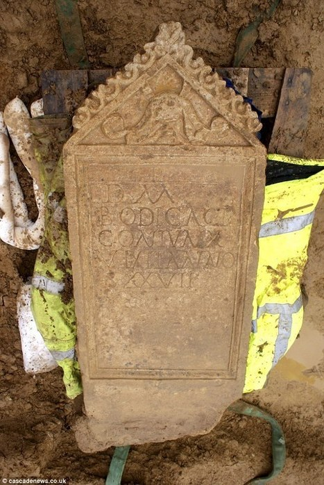 Bodica tombstone mystery deepens as skeleton found beneath is MALE - Daily Mail | Histoire et archéologie des Celtes, Germains et peuples du Nord | Scoop.it