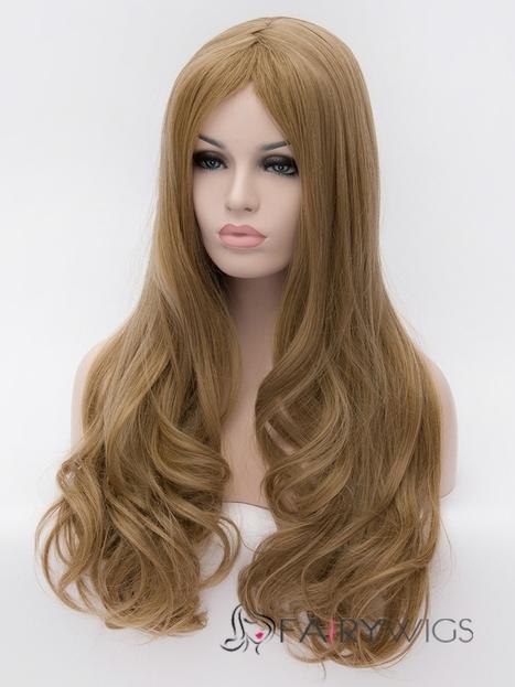 Hot 28 Inch Capless Wavy Flaxen Synthetic Hair Wigs : fairywigs.com | Synthetic Hair Wigs | Scoop.it