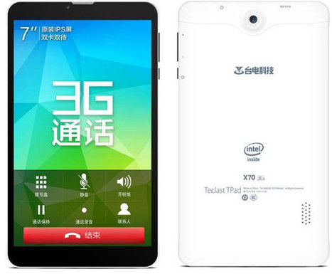 Teclast X70 Might be the First Low Cost 3G Tablet with an Intel Atom x3 Processor   Embedded Systems News   Scoop.it