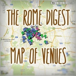 The Rome Digest Map of Venues | Italia Mia | Scoop.it