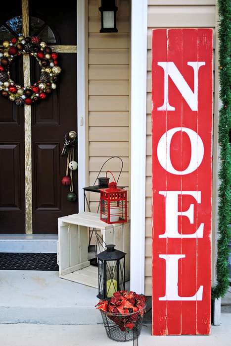 Christmas Décor Ideas for the Front Door by Pamela of PB&J Stories | Christmas Decorations | Scoop.it