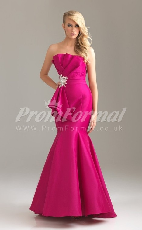 Formal Satin Halter Trumpet/Mermaid Sweep Train Evening Dress(PRJT04-0561) - promformal.co.uk | Prom & Formal | Scoop.it