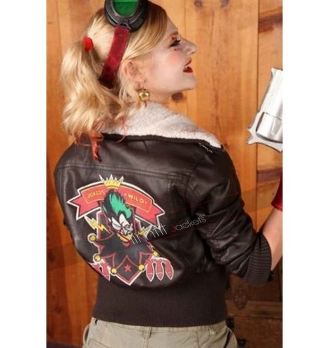 Harley Quinn Bombshell  Fur Jacket | Replica Movies Leather Jackets | Scoop.it