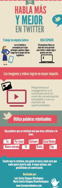 Habla más y mejor en Twitter #infografia #infographic #socialmedia   El rincón de mferna   Scoop.it