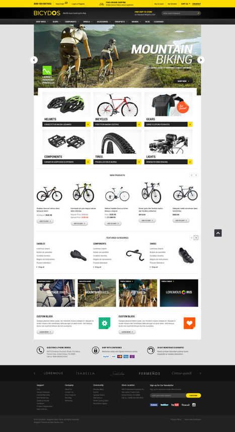 Go Bicydos - Responsive Bike Store Magento Go Theme - HaloThemes.com | Magento Templates | Scoop.it
