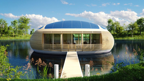 Eau » : la maison flottante, écologique et autonome  Maisons ...