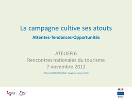 Le tourisme rural en France - Destination Campagnes - DATAR | Le site www.clicalsace.com | Scoop.it